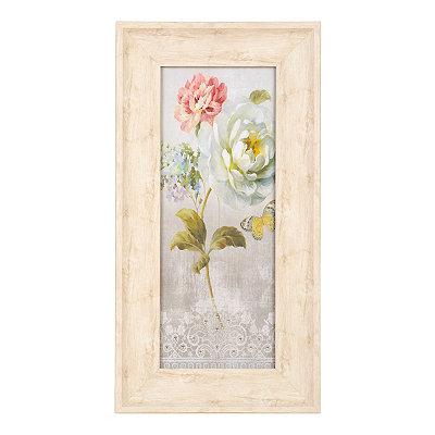 Jeweled Floral Panel I Framed Art Print