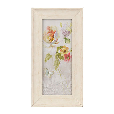 Jeweled Floral Panel II Framed Art Print