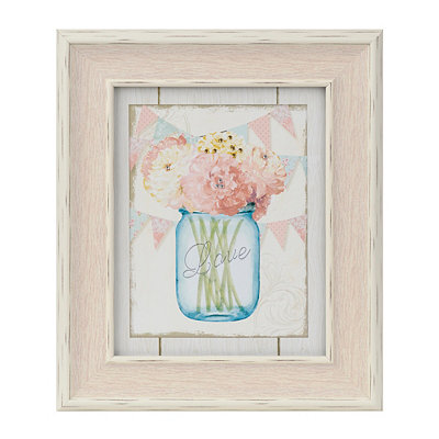 Love Floral Arrangement Framed Art Print