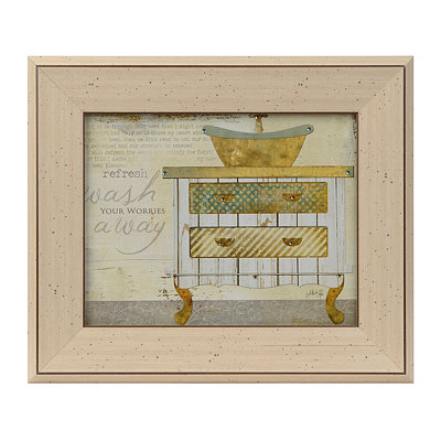 Wash Your Worries Away Patchwork Framed Art Print