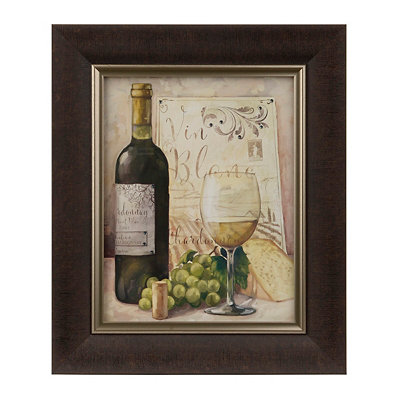 Jeweled White Wine Framed Art Print