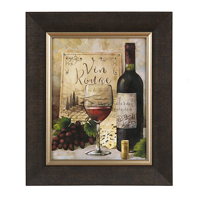 Jeweled Red Wine Framed Art Print