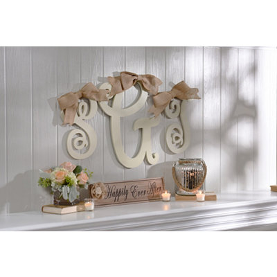 Antique Cream Monogram Plaque