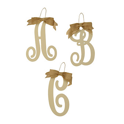 Small Antique Cream Monogram Plaques