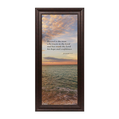 Coastal Trust in the Lord Framed Art Print