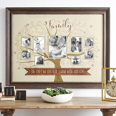 Live, Laugh, and Love Family Tree Collage Frame