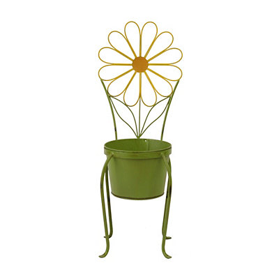 Yellow Flower Chair Planter
