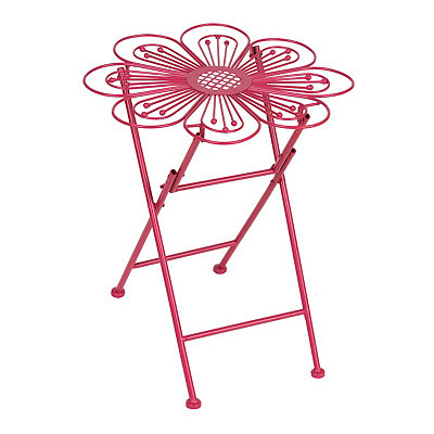 Pink Flower Folding Plant Stand