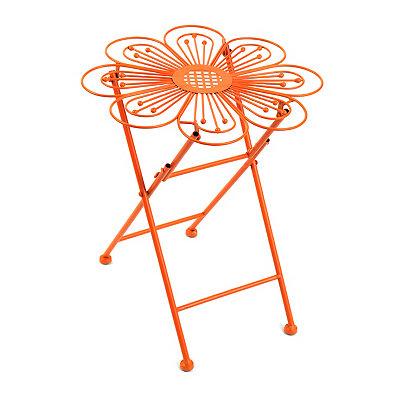 Orange Flower Folding Plant Stand