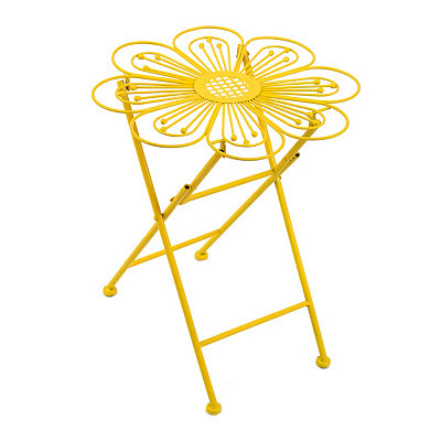 Yellow Flower Folding Plant Stand