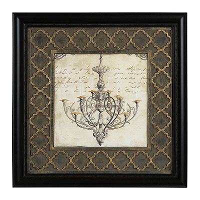 Elegant Chandelier I Framed Art Print