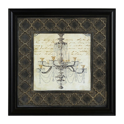 Elegant Chandelier II Framed Art Print