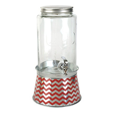Red Chevron Beverage Dispenser