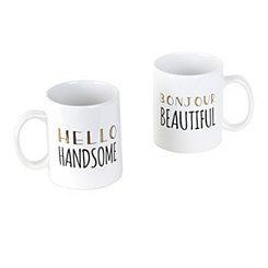 Hello Mugs, Set of 2