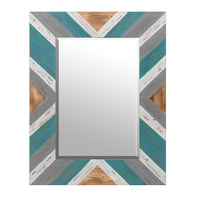 Geometric Hampton Framed Mirror, 27x35