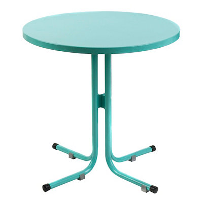 Round Turquoise Outdoor Side Table