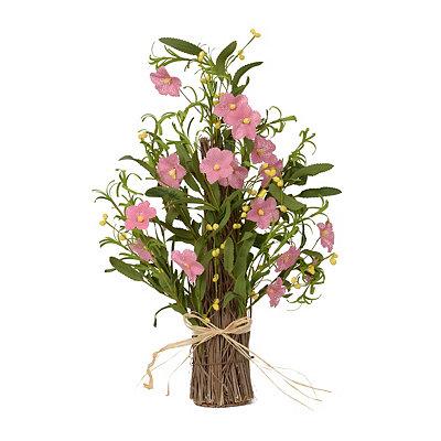 Pink Burlap Flower Stack