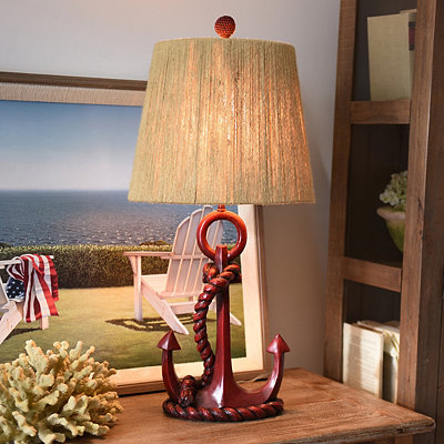 Red Anchor Table Lamp