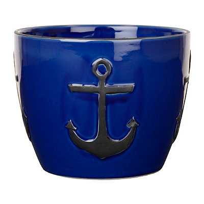 Cobalt Blue Anchor Planter