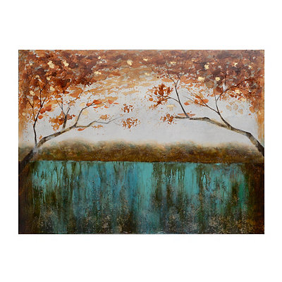 Trees Over the Lake Canvas Art Print