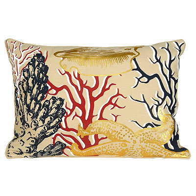 Metallic Sea Life Accent Pillow