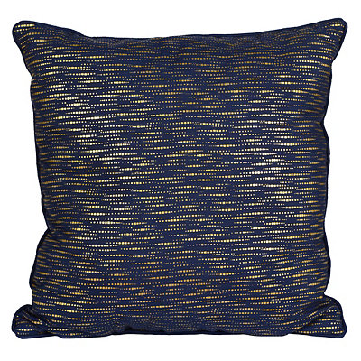 Alphea Navy and Gold Metallic Pillow