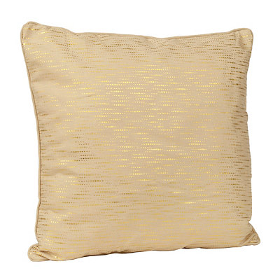 Alphea Tan and Gold Metallic Pillow
