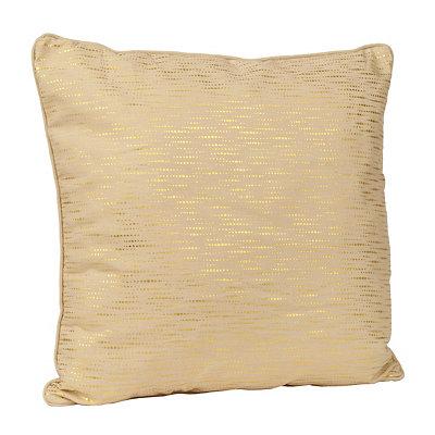 Alphea Tan and Gold Metallic Pillow