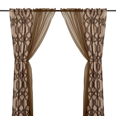 Tonic Chocolate 6-piece Curtain Panel Set, 84 in.
