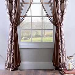 Tonic Chocolate 6-piece Curtain Panel Set, 84 in.