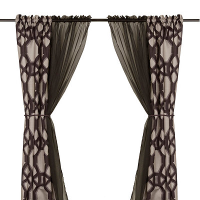 Tonic Black 6-piece Curtain Panel Set, 84 in.