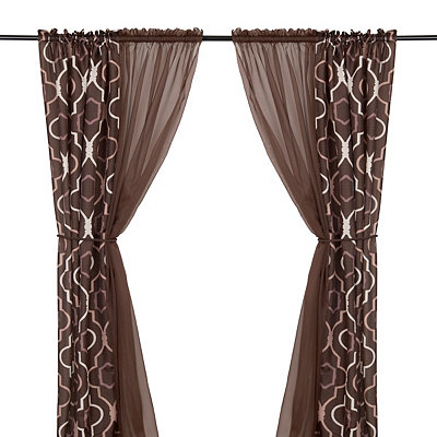 Donovan Brown 6-piece Curtain Panel Set, 84 in.