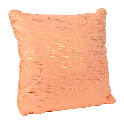Alphea Apricot and Gold Metallic Pillow