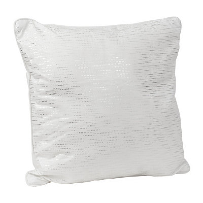 Alphea Cream and Silver Metallic Pillow