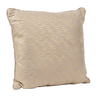 Alphea Taupe and Gold Metallic Pillow