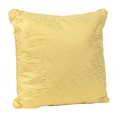 Alphea Yellow and Gold Metallic Pillow