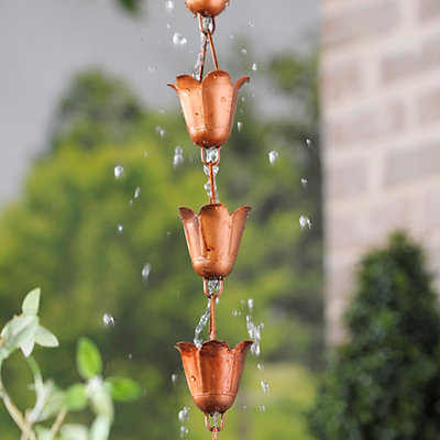 Copper Rain Chain, 96 in.