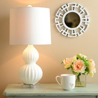 White Gourd Glass Table Lamp