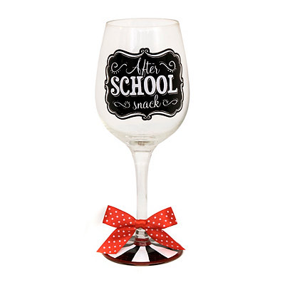 After School Snack Wine Glass