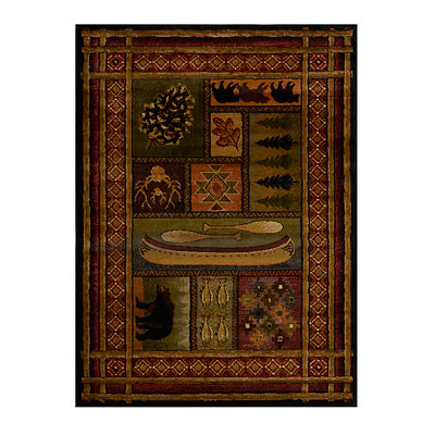 Cabin Chalet Area Rug, 5x7