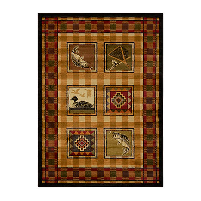 Lodge Stamp Area Rug, 5x7