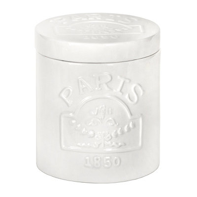 Paris Bathroom Cotton Ball Jar