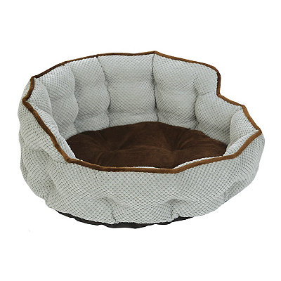 Aqua Tufted Pet Bed