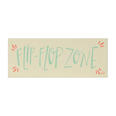 Flip Flop Zone Wooden Plaque