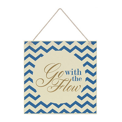 Go With the Flow Wooden Plaque
