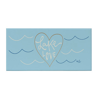 Lake Love Wooden Plaque