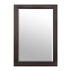 Distressed Espresso Framed Mirror, 29x41 in.
