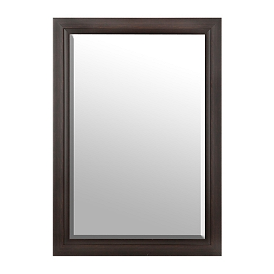 distressed espresso framed mirror 29x41 in
