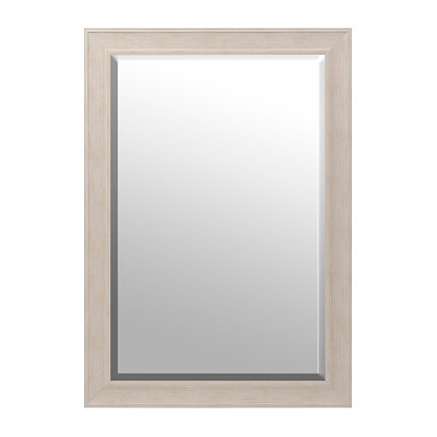 White Driftwood Framed Mirror, 29x41