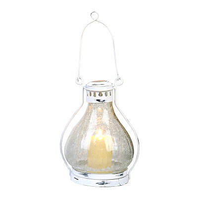 Clear Crackle Glass Lantern